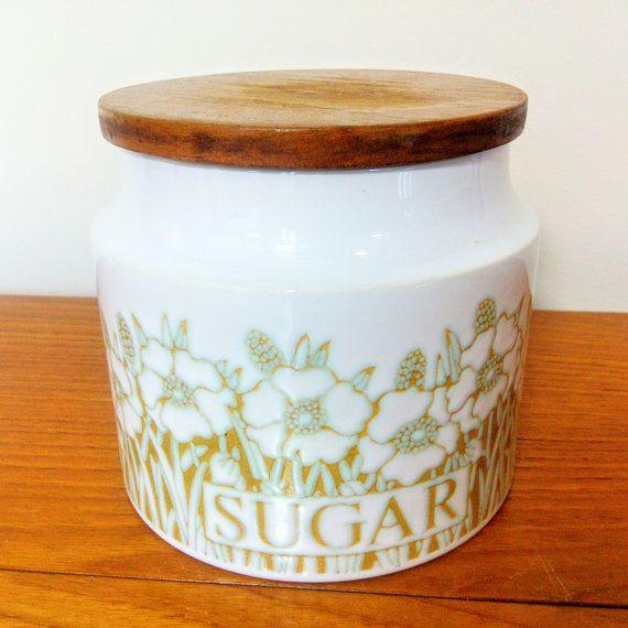 Hornsea Fleur Sugar Canister Retro Storage Jar By