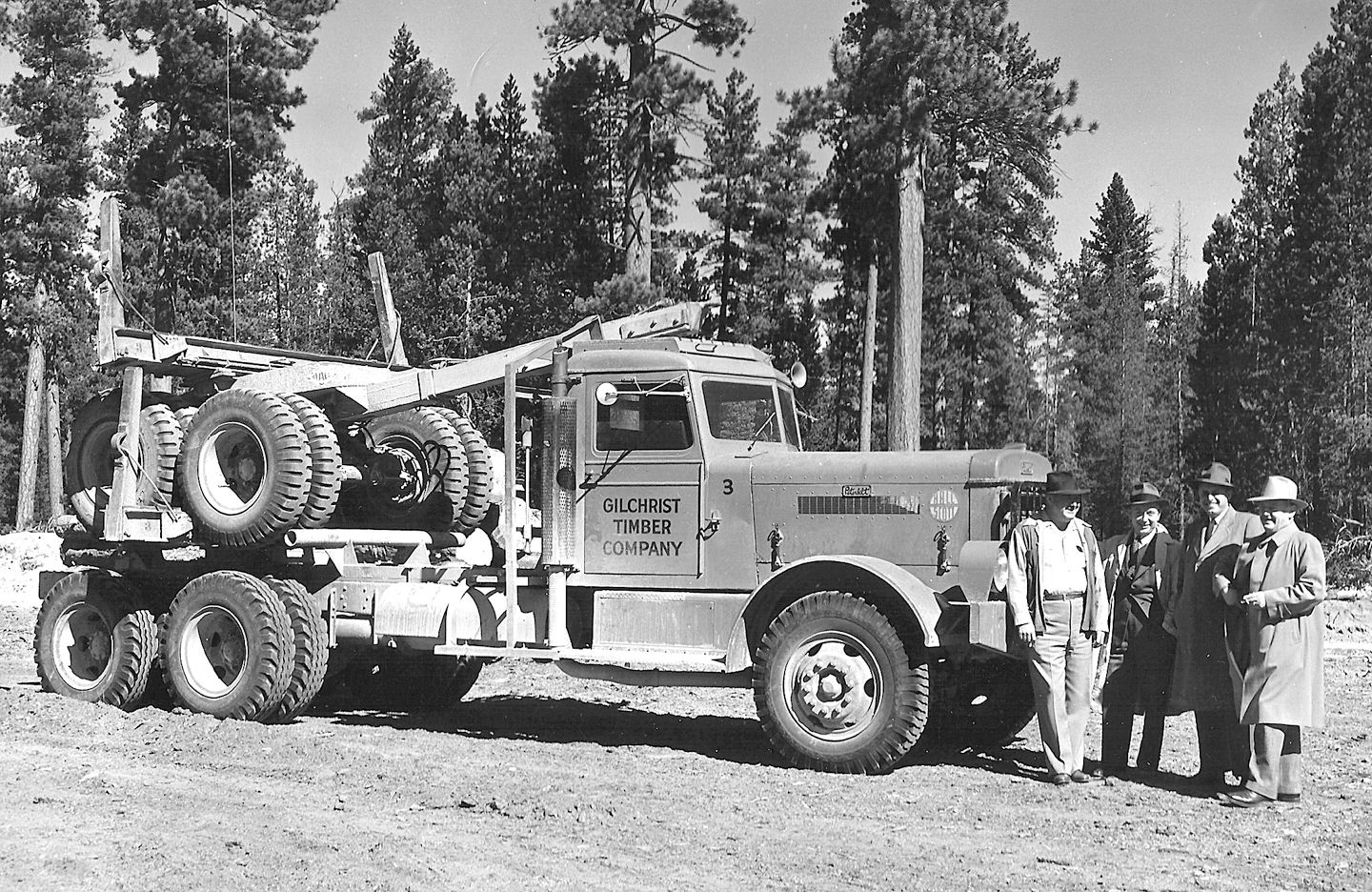 old peterbilt logging truck with 10 wide bunks | logging ...