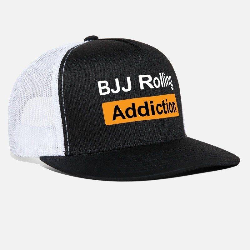 cheap for discount 2ca1c 8c340 BJJ Rolling Addiction Trucker Cap