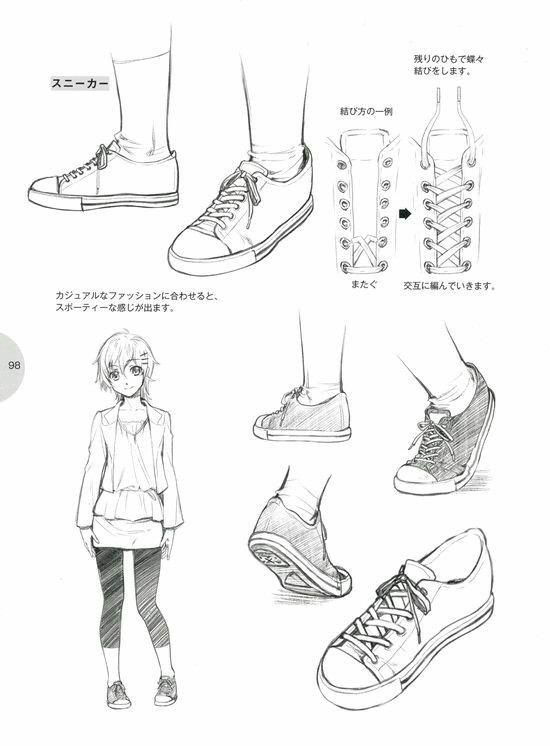 de diseño animéReferencias ZapatosDibujar ropa de lFuTKJc315