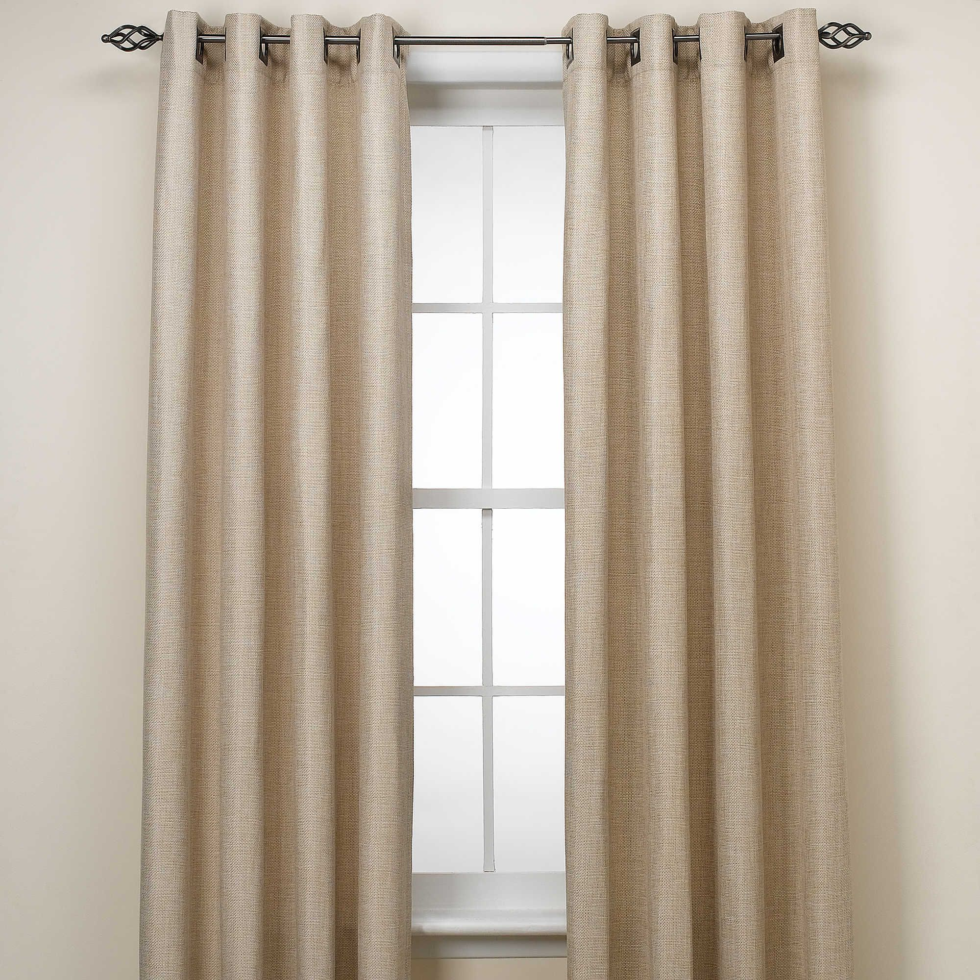 Reina 95 Inch Grommet Top Window Curtain Panel In Ivory Curtains