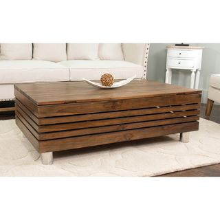 Shop for Decorative Kerby Modern Tan Rectangle Coffee Table. Get free shipping…