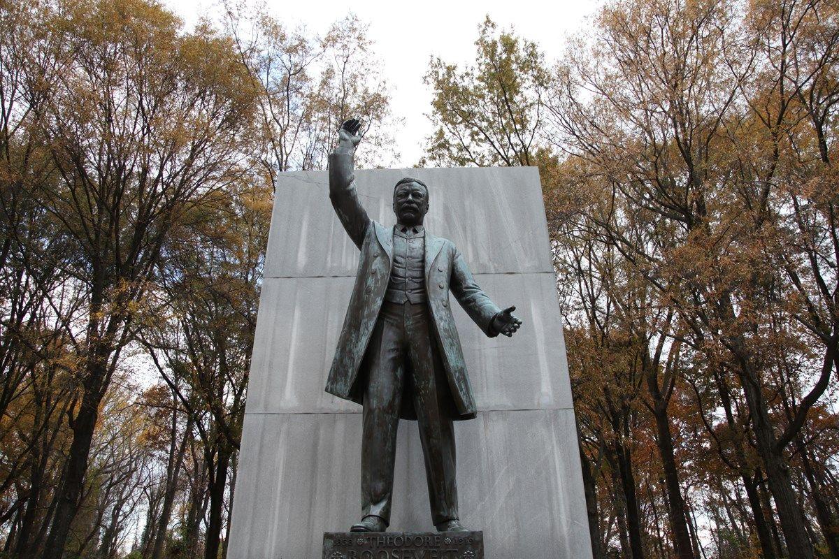 Roosevelt Island statue