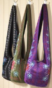 Bag~Embroidered Sadhu Shoulder Bag~Fair trade by Namaste & Folio Gothic Hippy SB72