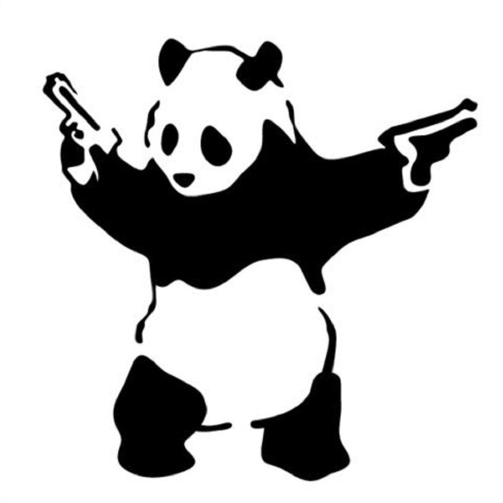 картинки панда трафареты первый взгляд