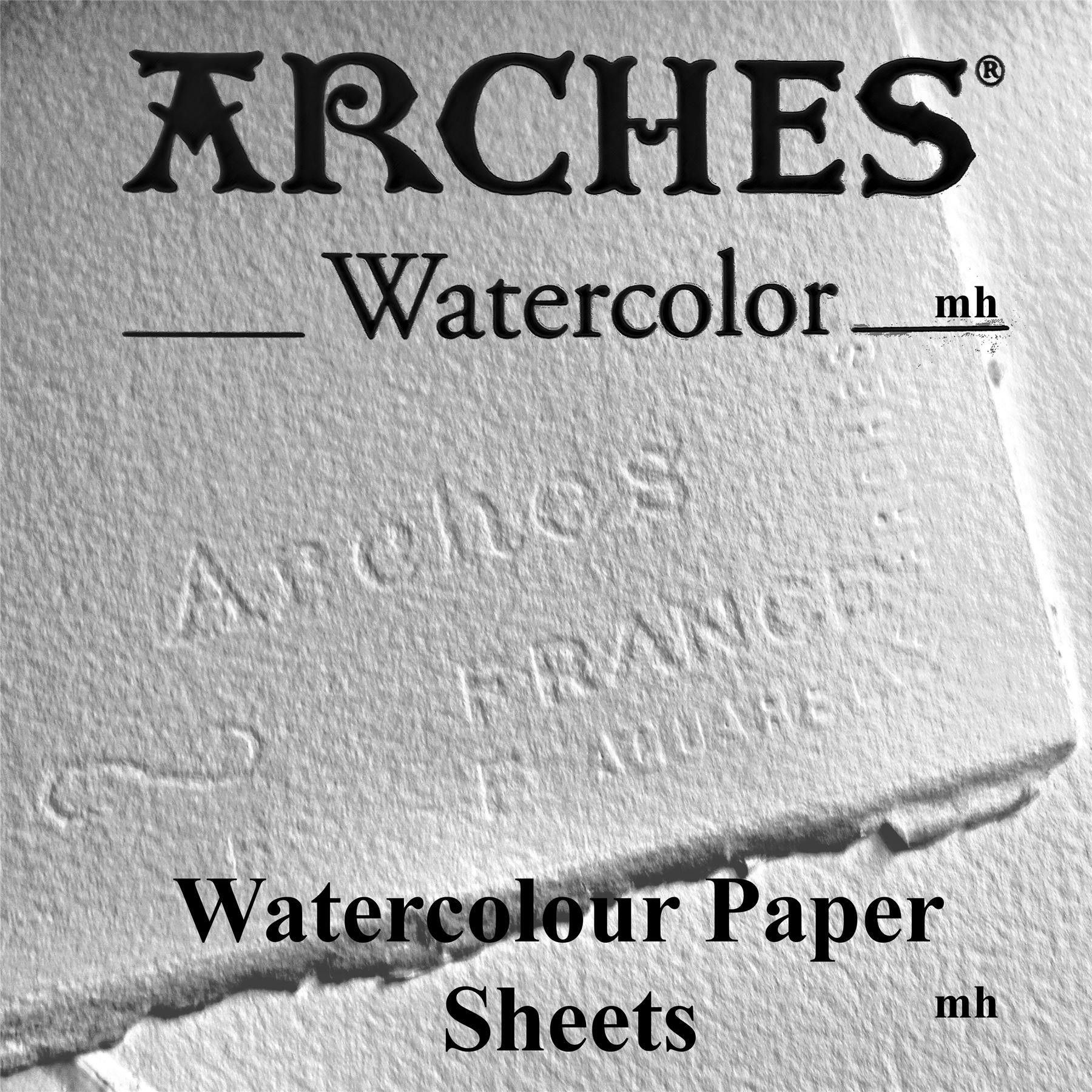 Canson 300gsm Aquarelle Arches Watercolour 4 Sheets Cold Pressed