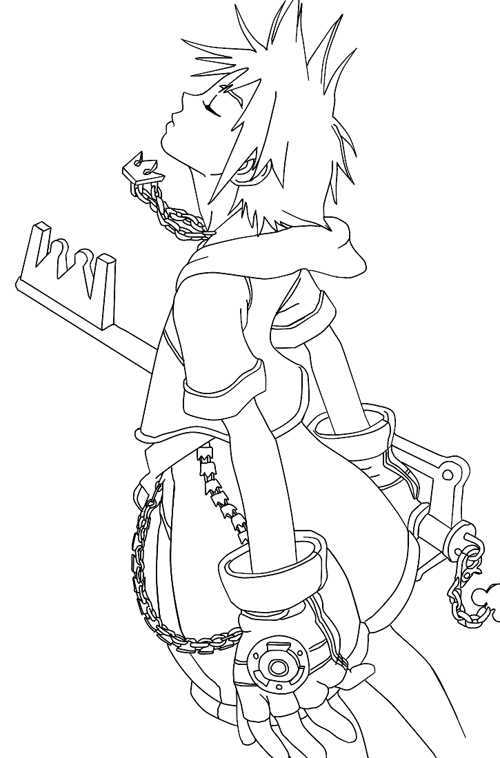 Free Kingdom Hearts Coloring Pages With Printable Kingdom Hearts ...