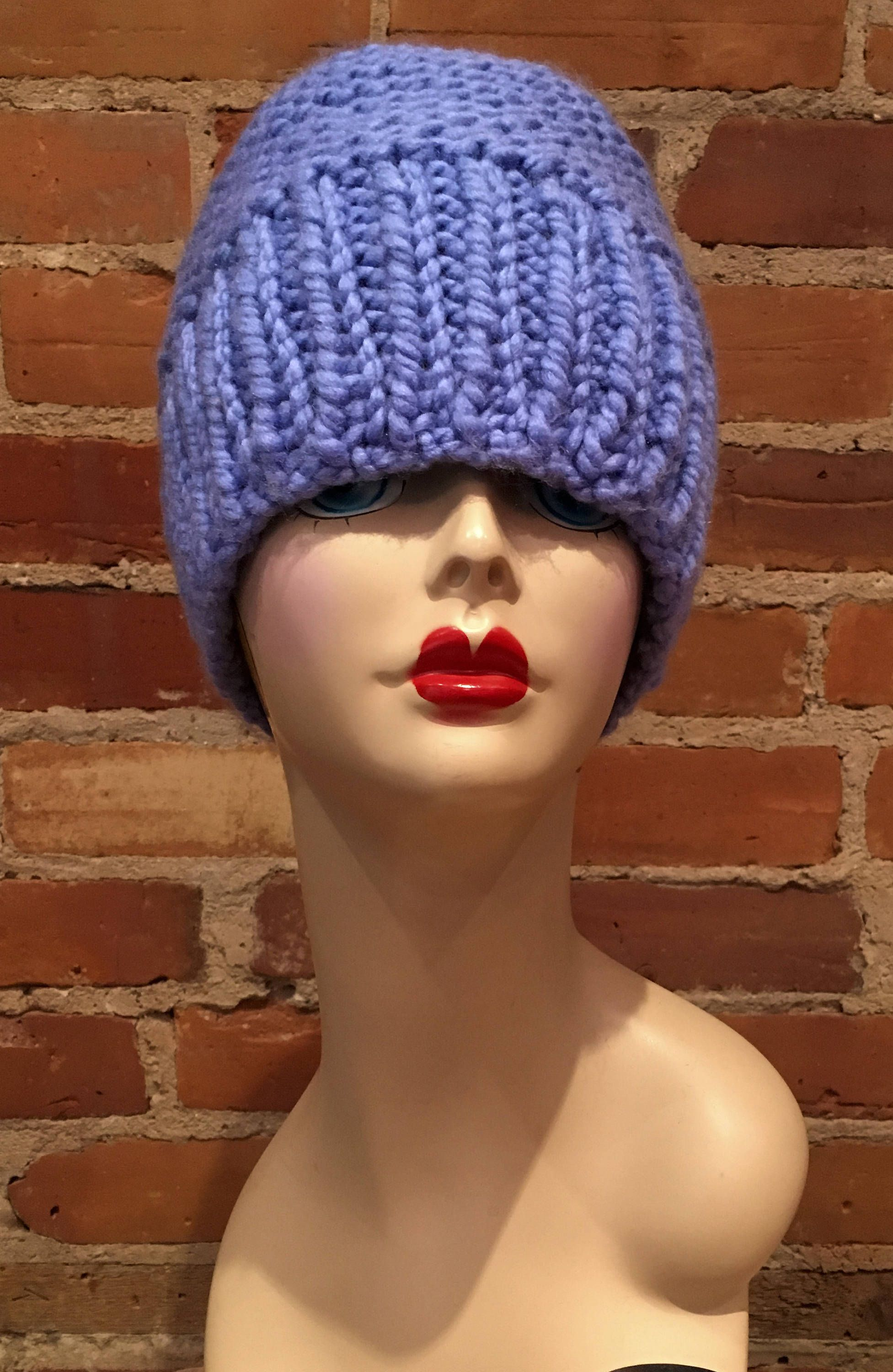 Periwinkle Knit Hat 36e8ad7581b