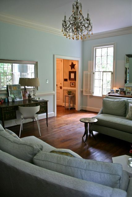 Palladian blue room today for the home palladian blue - Benjamin moore palladian blue living room ...