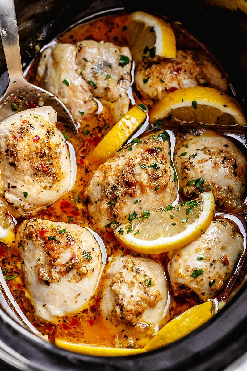 Crock Pot Lemon Garlic Butter Chicken images
