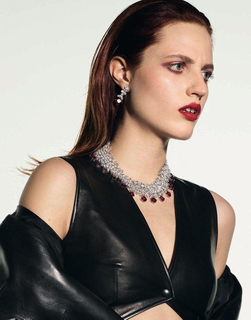 Photo of Julia Banas Dazzles in Sleek Styles for Vogue Poland