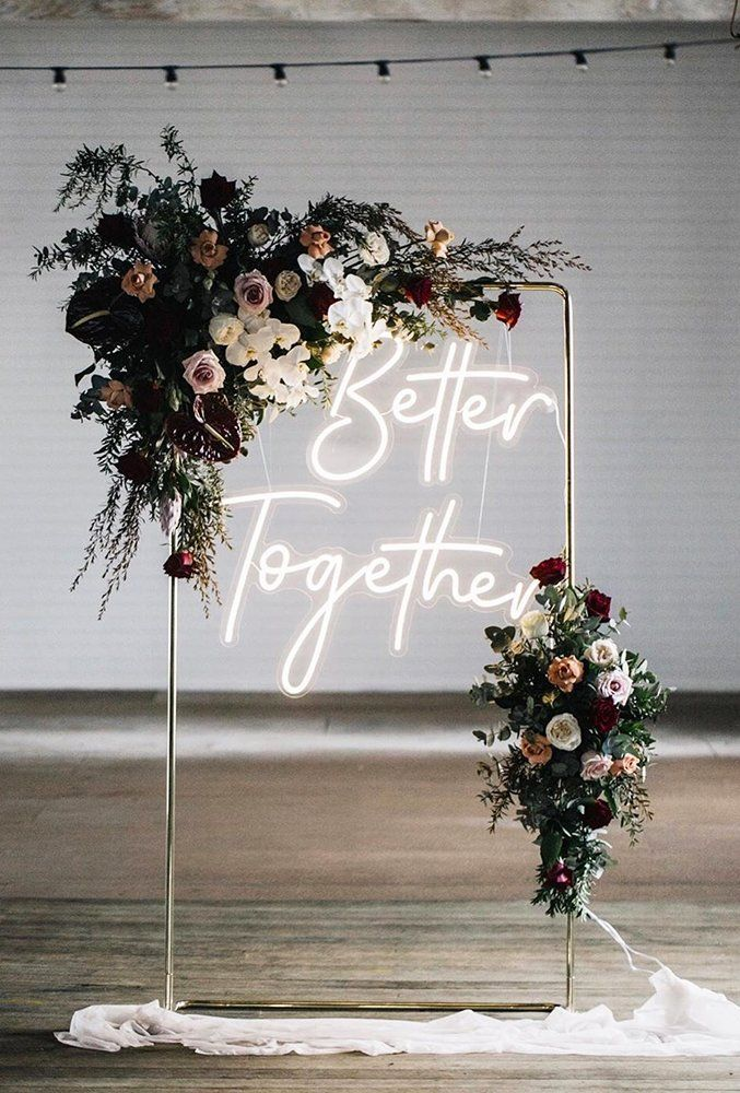 30 Clever & Funny Wedding Signs For Your Reception ❤ clever funny wedding signs glass sign with neon letters littlepineappleneon #weddingforward #wedding #bride