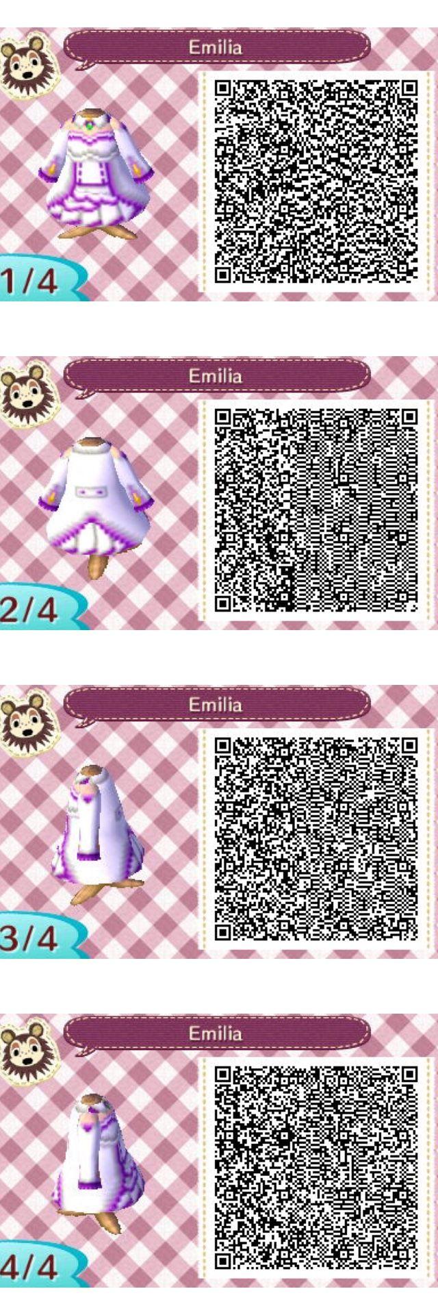 re zero emilia animal crossing qr codes clothes animal crossing qr qr codes animal crossing