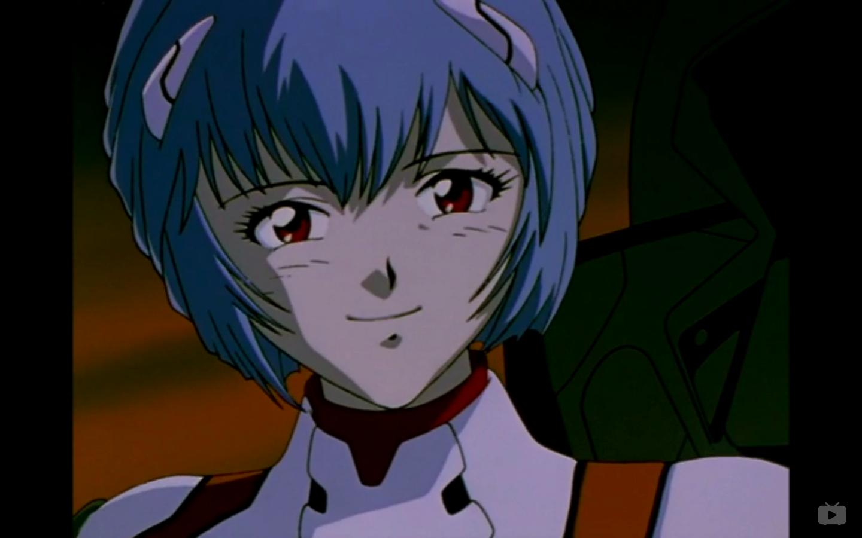 from Neon Genesis Evangelion Rei's first smile Neon