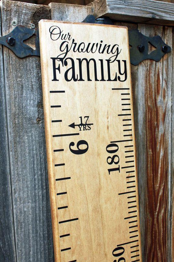 Growth Chart Ruler AddOnOur Growing Family DecalTop Header - Ruler growth chart vinyl decal