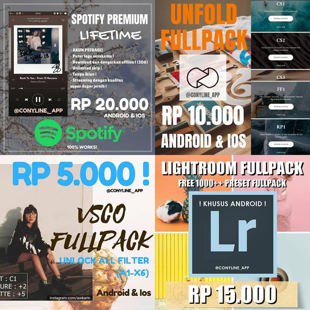 Paidpromote Medspin 2019 Conyline App Conyline App Applikasi Best Seller Untuk Android Dan Ios Spotify Premi Spotify Premium Lightroom Instagram
