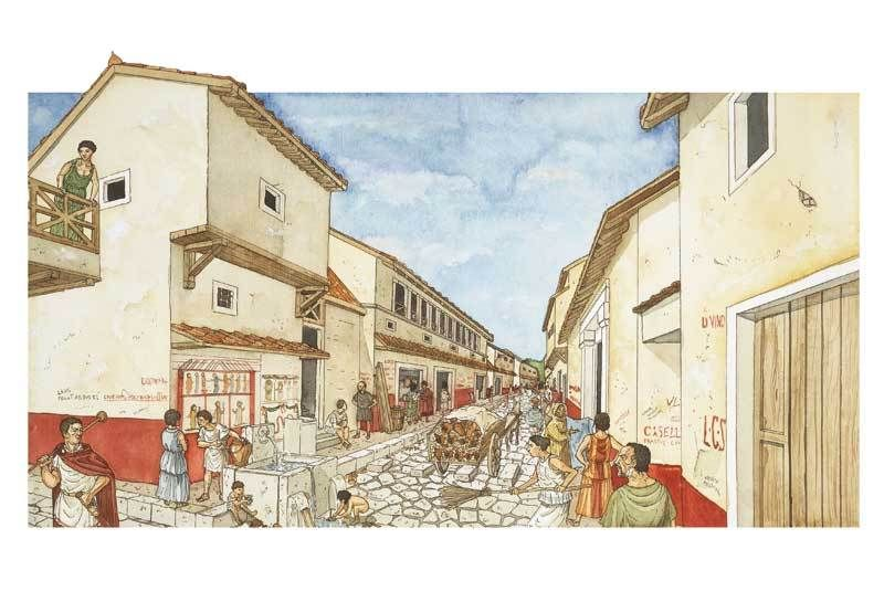a roman life in pompeii Nowhere gives a deeper insight into roman life than pompeii and herculaneum,  which were thriving towns before they were frozen in time by.