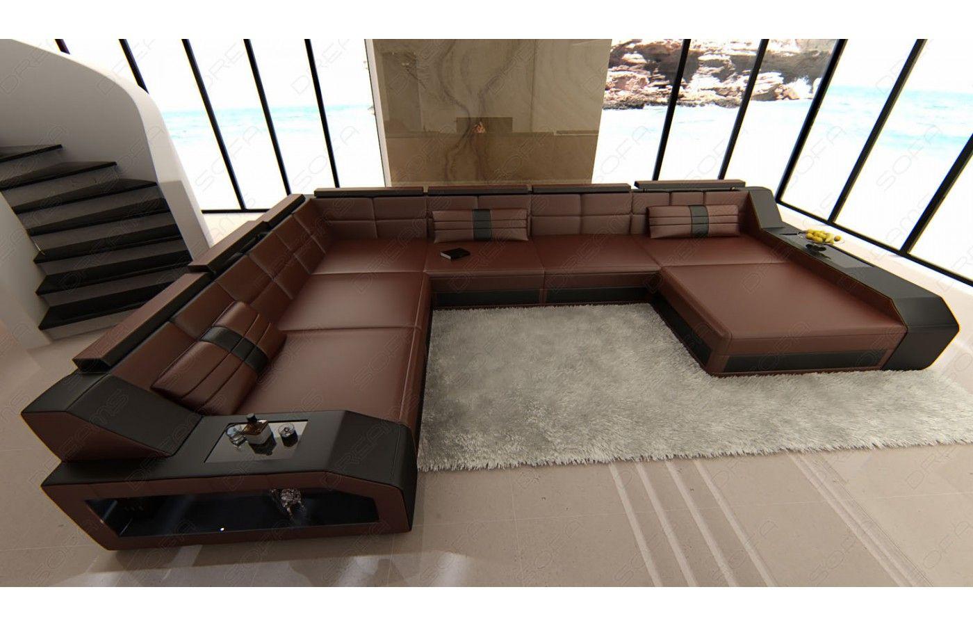 Xxl Wohnlandschaft Matera Leder Sofa Design Graues Sofa Sofa Wohnlandschaft
