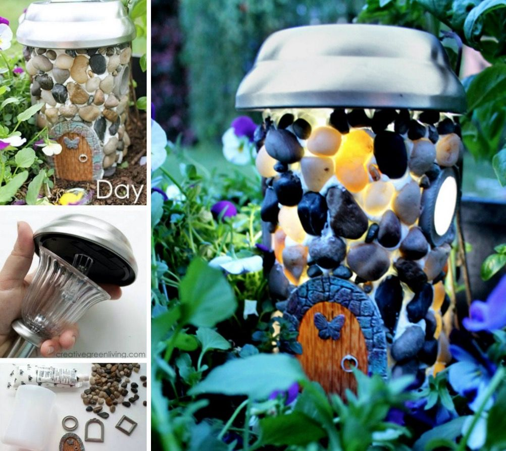 Solar Light Fairy House Super Easy Diy
