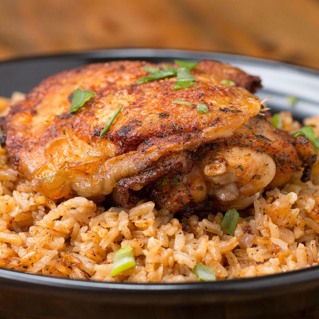 Paprika Chicken Rice Bake Recipe By Tasty Recipe Chicken Rice Bake Recipes Food