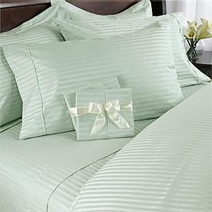 Egyptian Cotton Bed In A Bag 300 TC Sateen Stripes   Queen Size