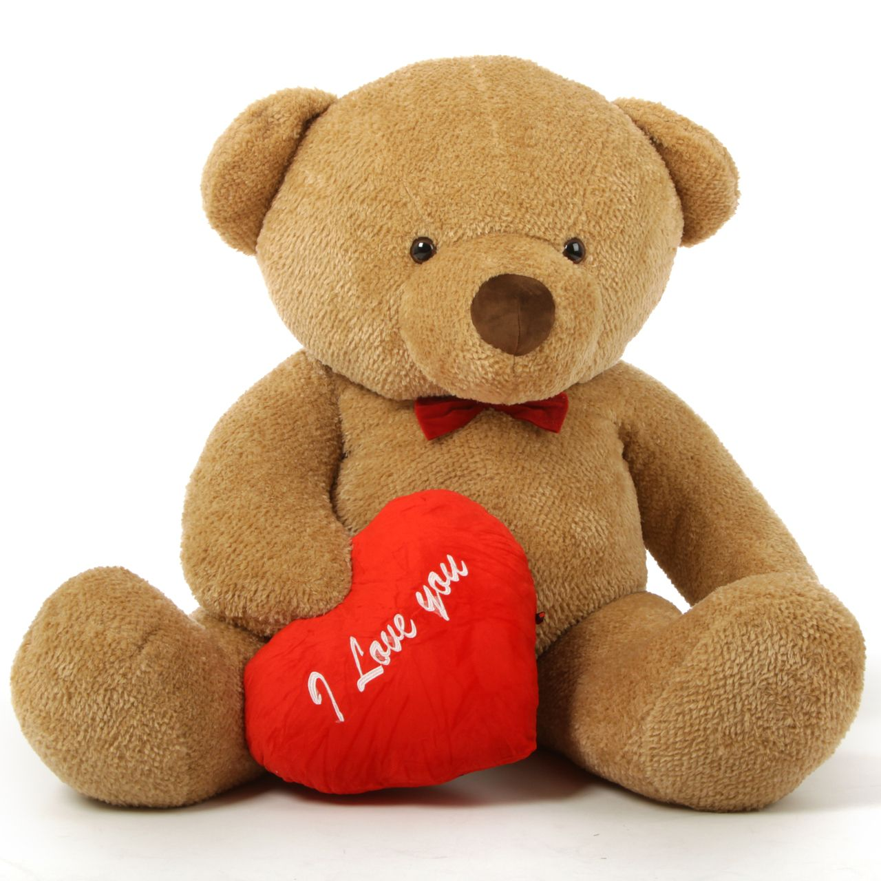 60in chubs giant valentines day teddy bears hold red i love you - Giant Teddy Bear For Valentines Day