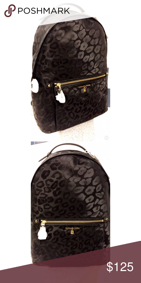 3ff026ace6eb Michael Kors black cheetah backpack New Authentic MICHAEL Michael Kors Bags  Backpacks