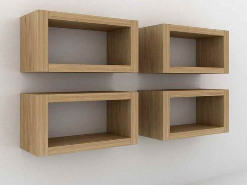 Rectangle Floating Shelves For Powder Room
