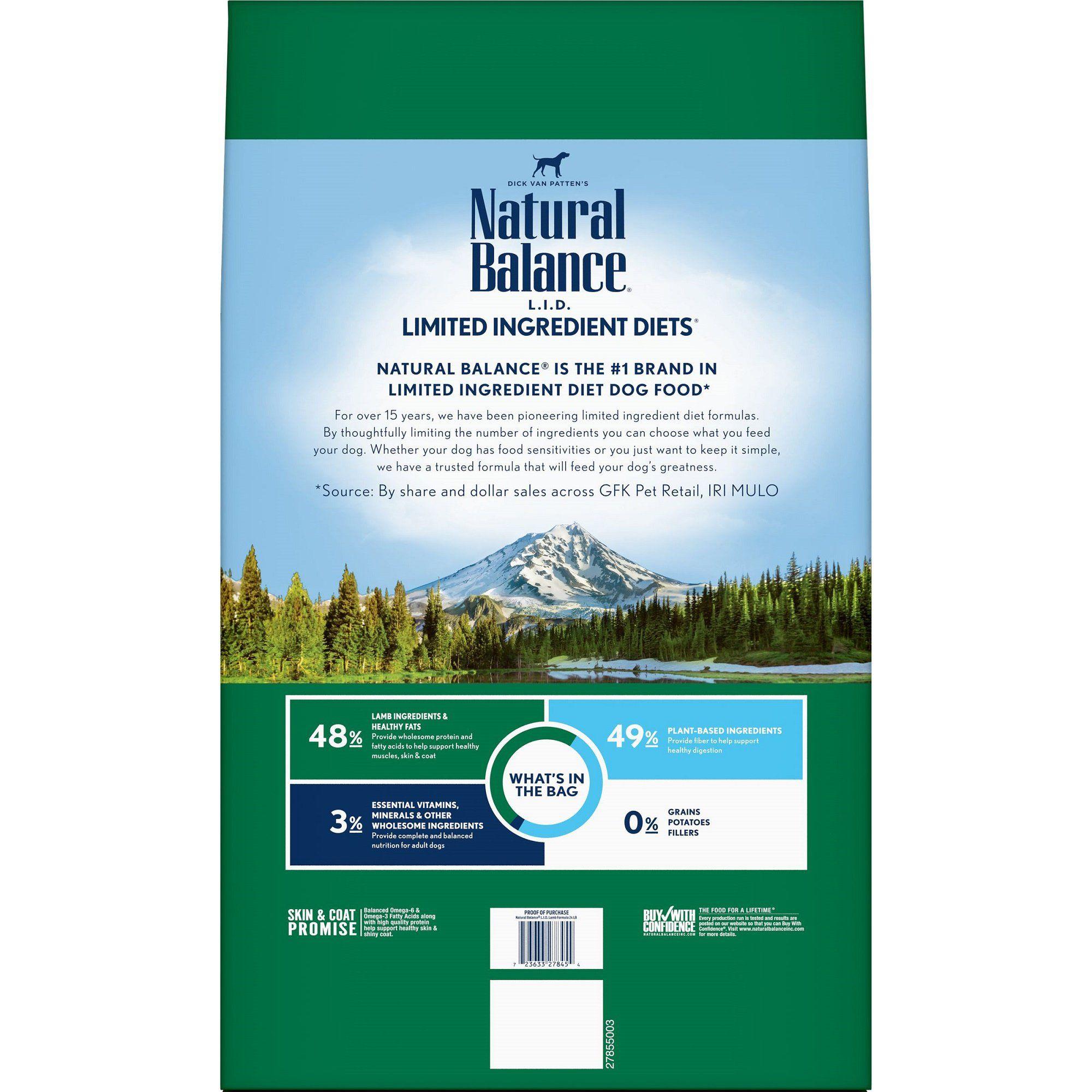 Natural Balance L I D Limited Ingredient Diets Lamb Formula Dry