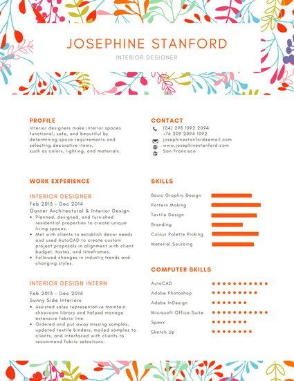 Colorful Foliage Creative Resume | Resume | Creative resume ...