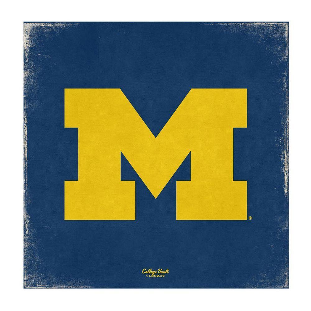 NCAA Legacy Athletic Michigan Wolverines Vintage Canvas Wall Art ...