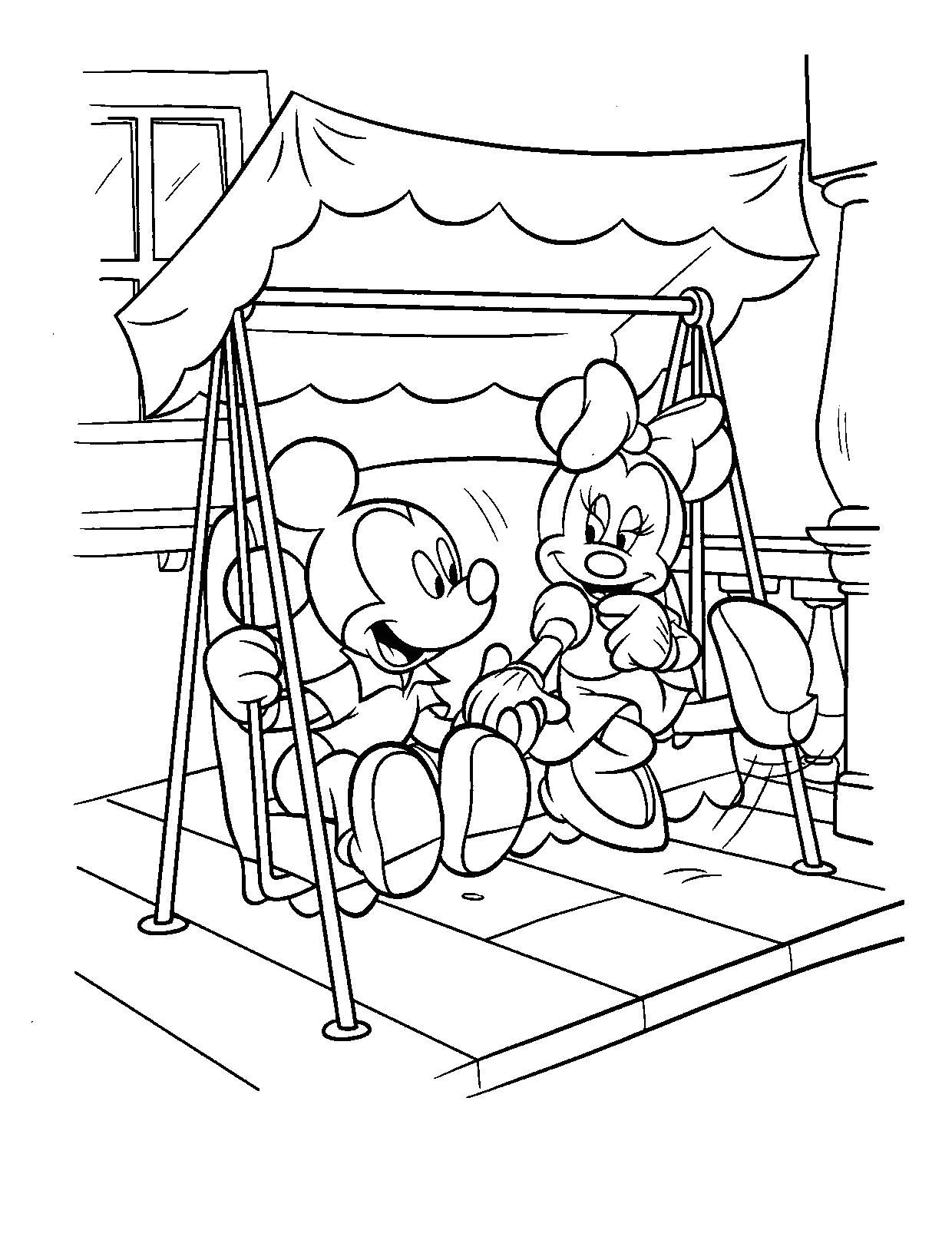 Geniaal Kleurplaten Minnie Mouse En Mickey Mouse Baby