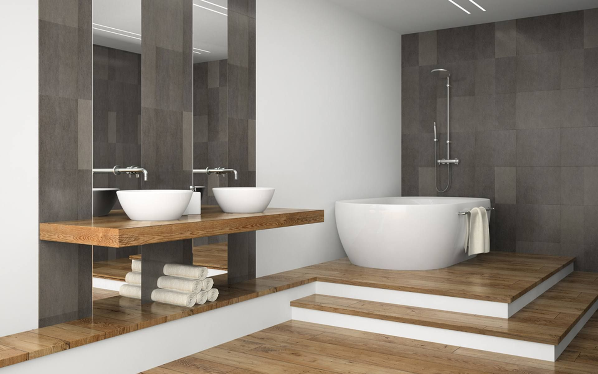 Afbeeldingsresultaat voor inspiratie badkamer landelijk modern