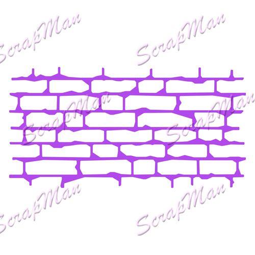 Нож Collage Brick Wall (Коллаж Кирпичная стена) от ScrapMan - Интернет магазин скрапбукинга - Скрапмен
