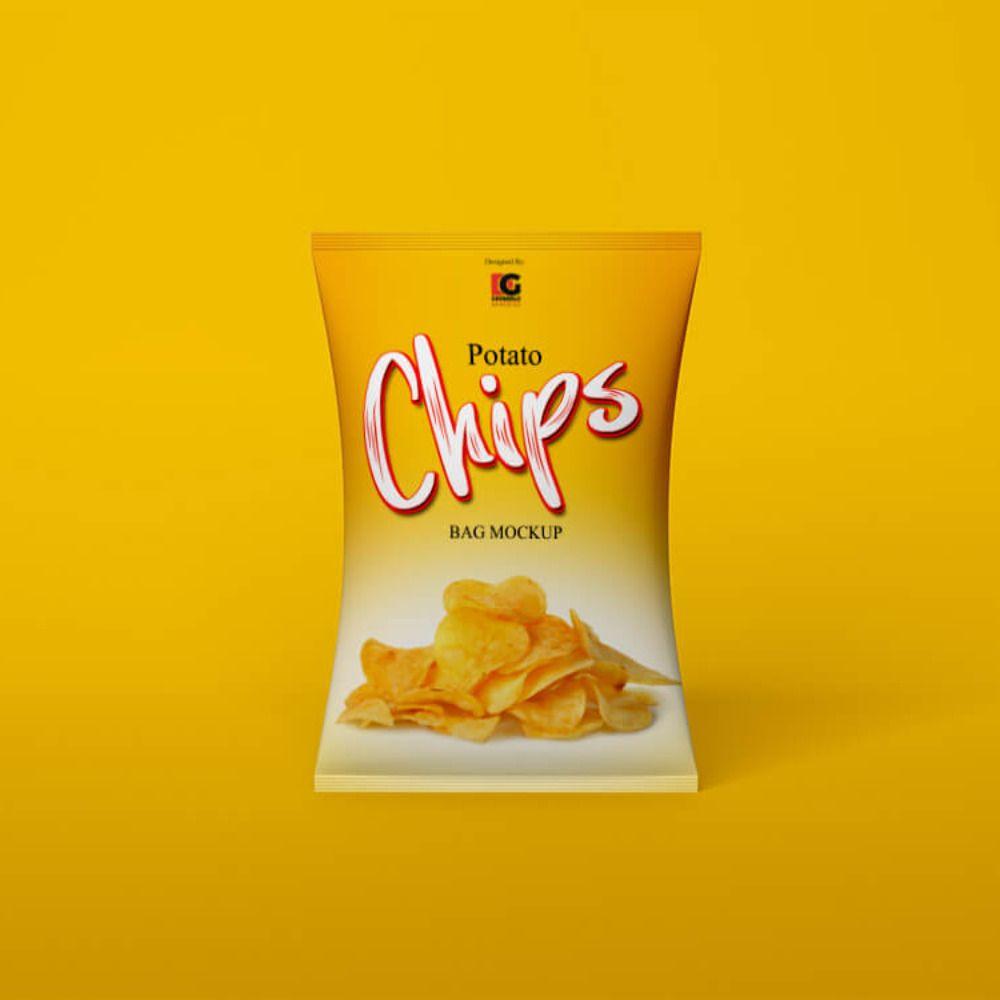 Download Chips Bag Mockup Bag Mockup Chip Packaging Chip Bag