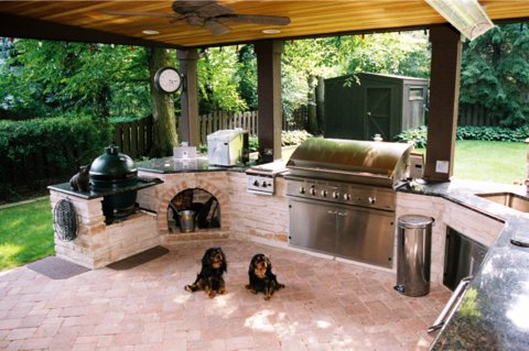 outdoor kitchen with big green egg - Google Search | BGE IDEAS ...