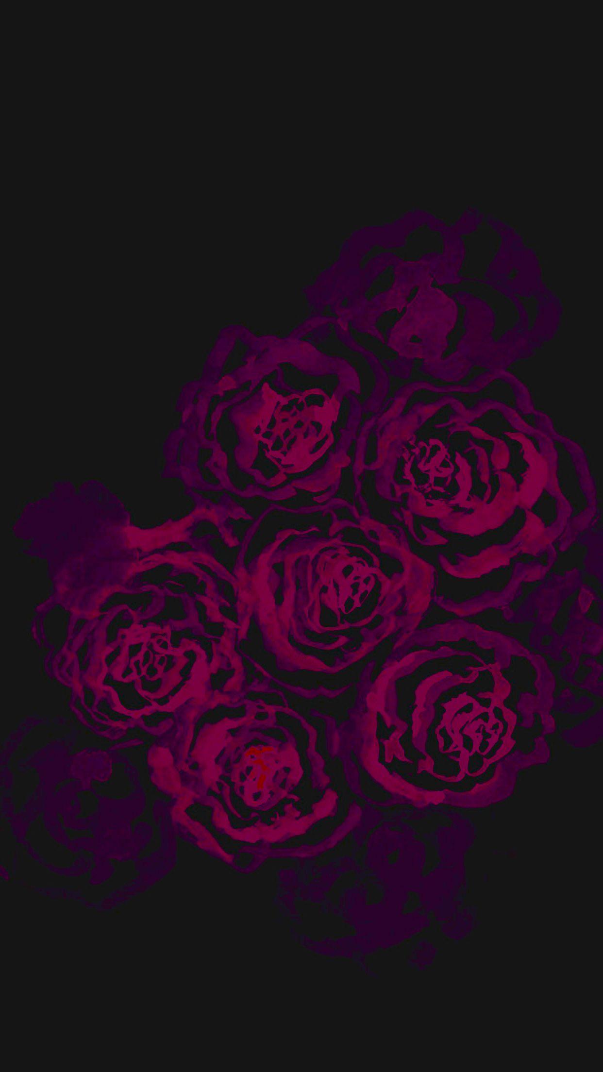 Lock Screen Red Rose Black Background Wallpaper
