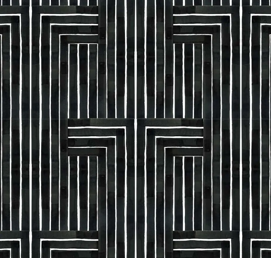 Chiseled Mitchell Black Wallpaper and Textiles