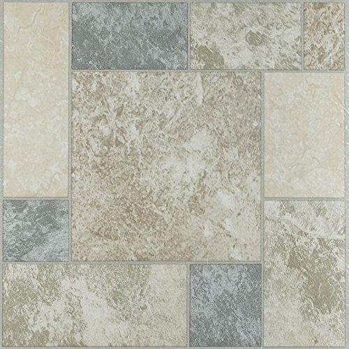 180 Pieces Peel And Stick Vinyl Floor Tile Self Stick Marbel Stone