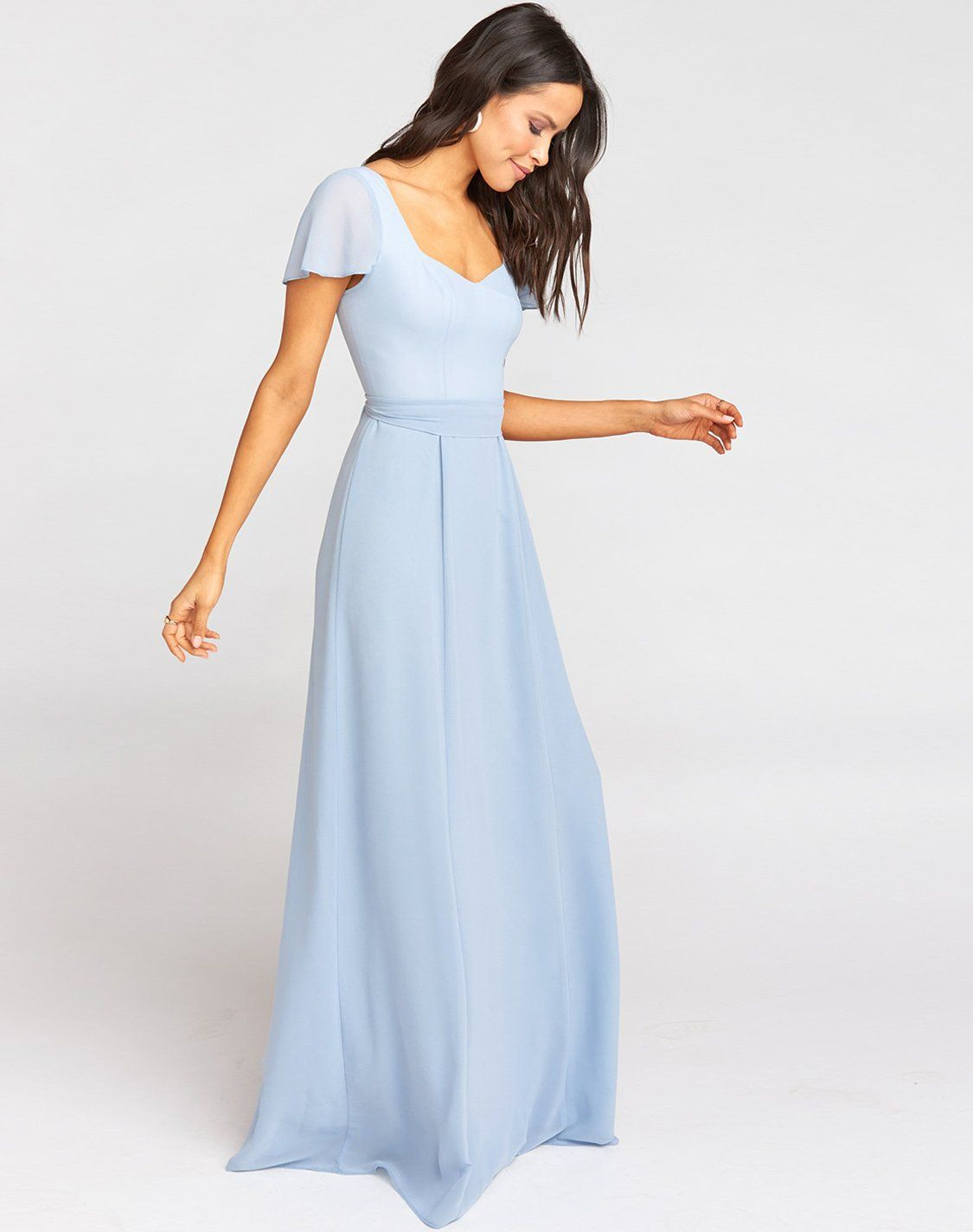 Marie Sweetheart Maxi Dress Steel Blue Chiffon In 2020 Sweetheart Dress Dresses Sweetheart [ 1425 x 1125 Pixel ]