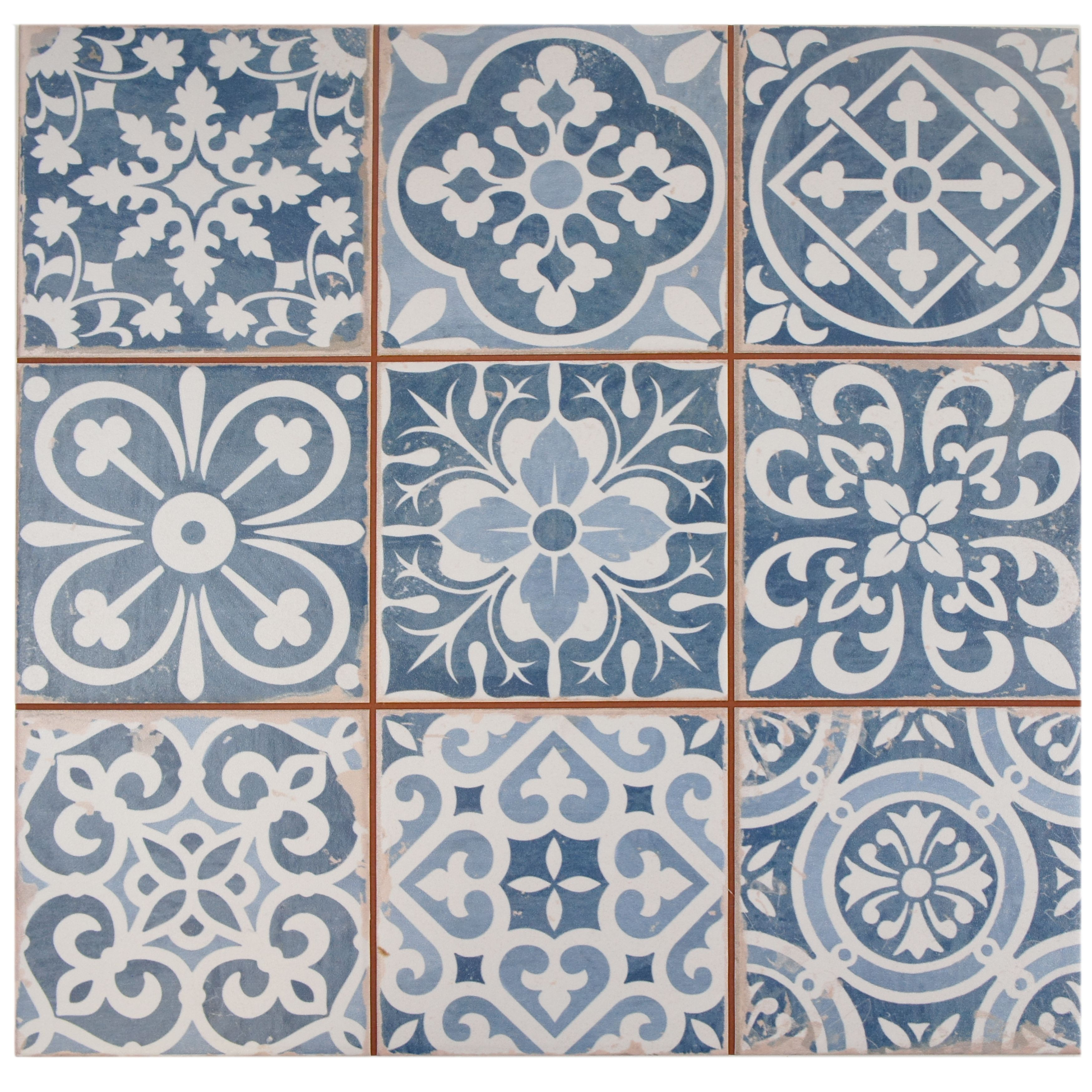 The somertile 13x13 inch faventia azul ceramic floor and for 13x13 floor tile