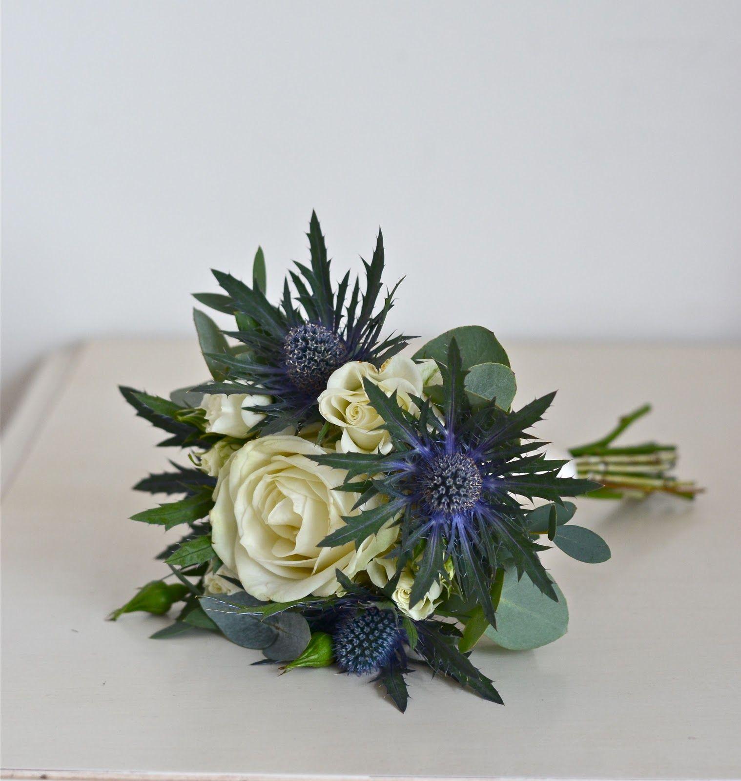Wedding Flowers Blog Nina S Winter Scottish Thistle And Rose