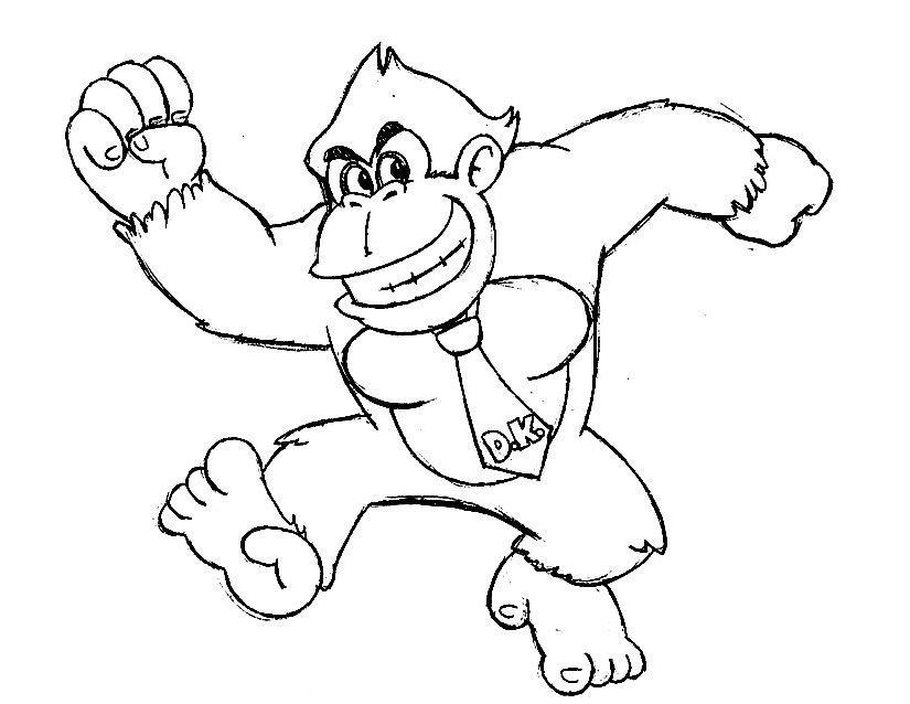 Donkey Kong Para Colorear Coloring Pages Colorful Pictures