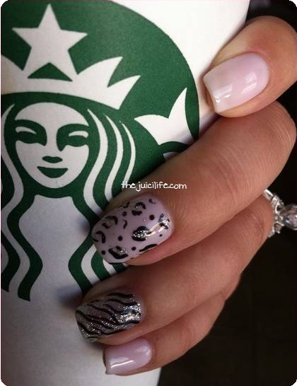 light pink leopard no-chip manicure (The Juici Life: No-Chips Over Here)