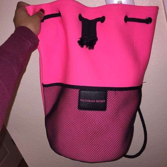 Pink Vs Jaw String Bag Great For Laundry Or To Use As A Gym Super Cute And In Hot Color Really Stands Out Used It