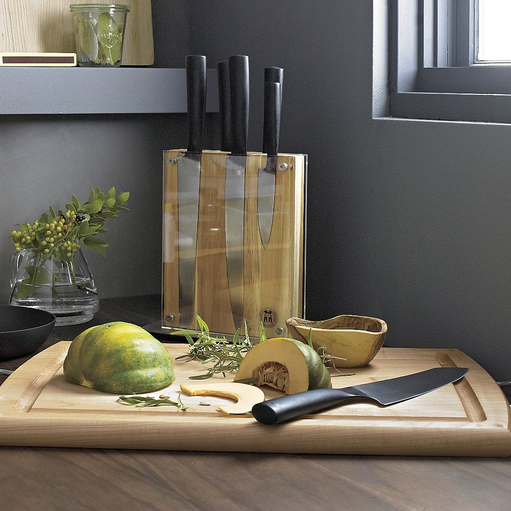 free shipping shop schmidt brothers 7 piece carbon 6 knife block