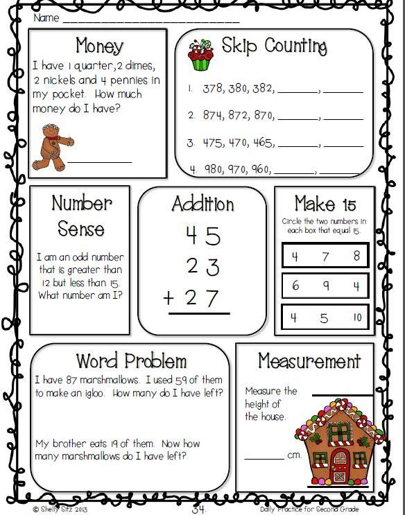 Resultado de imagen para math word problems steps – 3rd Grade Christmas Math Worksheets