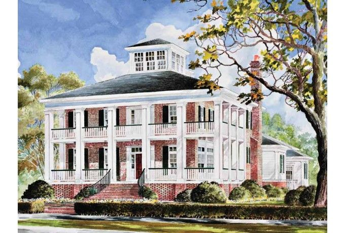 Eplans plantation house plan smythe park house from the Southern plantation house plans