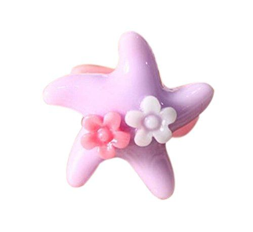 4 Pieces of Purple Starfish Children-Pretend-Play Acrylic Jewelry Rings * Check this awesome product by going to the link at the image.