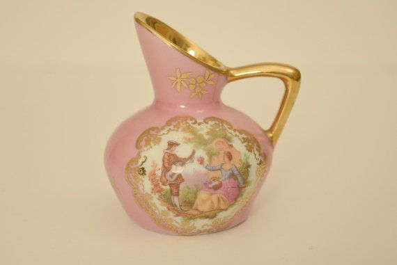 Check out this item in my Etsy shop https://www.etsy.com/listing/208199146/bardet-limoges-small-pink-pitcher-with